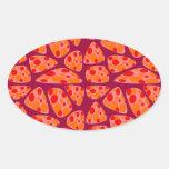 Mosaico colorido del circo calcomania ovaladas personalizadas