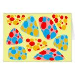 Mosaico colorido del circo tarjeton