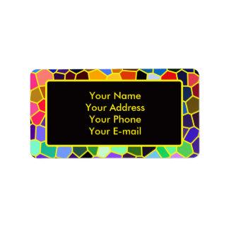 Mosaico colorido del extracto del arco iris del vi etiqueta de dirección