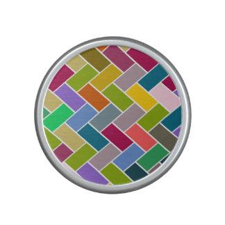 Mosaico colorido tejado del modelo altavoz bluetooth