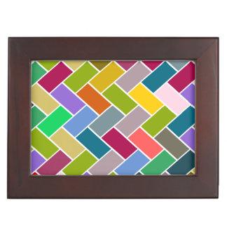 Mosaico colorido tejado del modelo caja de recuerdos