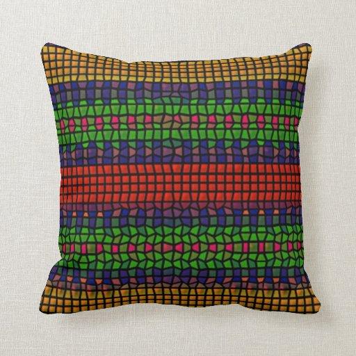 Mosaico colorido tribal cojines