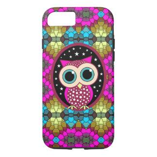 mosaico con el búho rosado funda iPhone 7