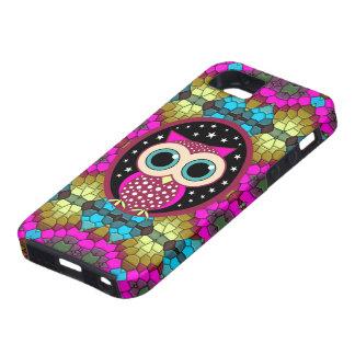mosaico con el búho rosado funda para iPhone SE/5/5s