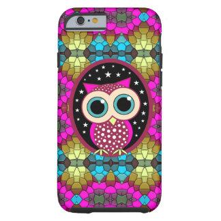 mosaico con el búho rosado funda resistente iPhone 6