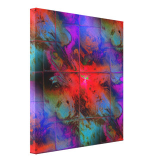 Mosaico coralino impresión en lienzo