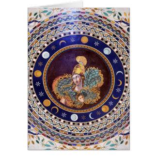 Mosaico de Athena en los museos de Vatican Tarjeta De Felicitación