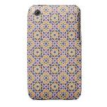 Mosaico de azulejos de Marruecos. Arabesco morisco iPhone 3 Case-Mate Cárcasas