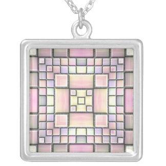 Mosaico de cerámica colgante cuadrado