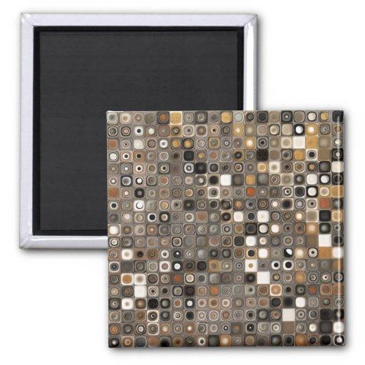 Mosaico de cobre y de piedra imán cuadrado