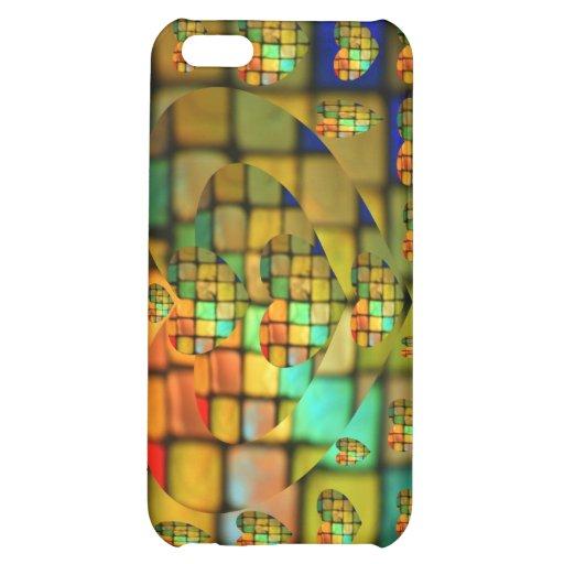 Mosaico de cristal coloreado del corazón