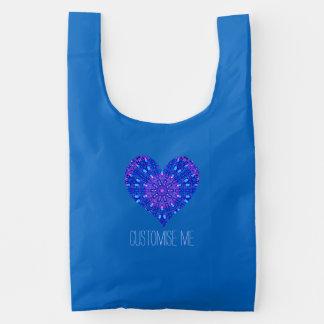 Mosaico de cristal del efecto púrpura/azul bolsa reutilizable