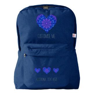 Mosaico de cristal del efecto púrpura/azul mochila