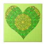 Mosaico de cristal del efecto verde/amarillo (cora azulejos