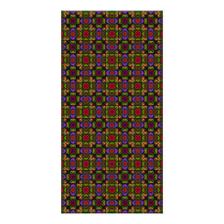 Mosaico de cristal multicolor tarjetas personales