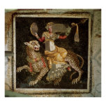 Mosaico de Dionysus que monta un ANUNCIO del leopa Impresiones