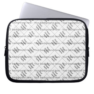 Mosaico de encargo de plantilla en blanco doble fundas ordendadores