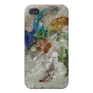 Mosaico de Gaudi con la flor iPhone 4/4S Funda