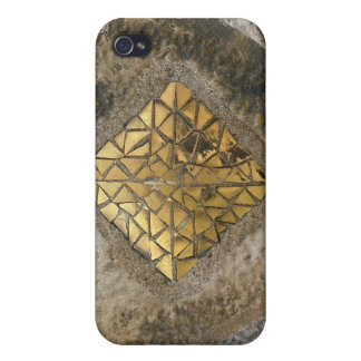 Mosaico de Gaudi del oro iPhone 4 Cárcasas