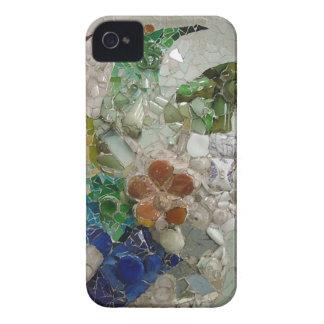 Mosaico de Gaudi iPhone 4 Case-Mate Cárcasa