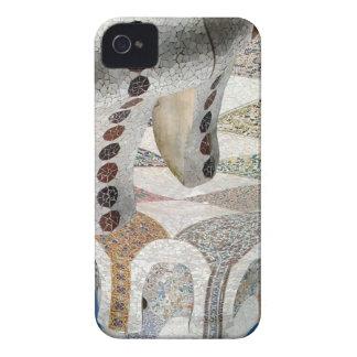Mosaico de Gaudi iPhone 4 Case-Mate Funda