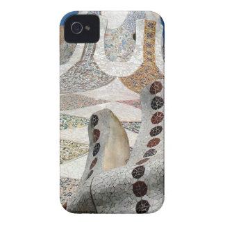 Mosaico de Gaudi iPhone 4 Carcasas