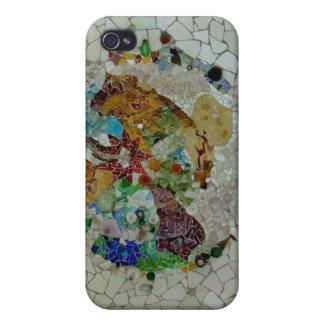 Mosaico de Gaudi iPhone 4 Protectores