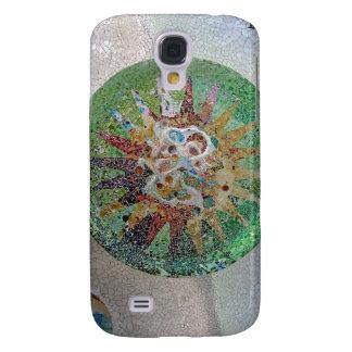 Mosaico de Gaudi subió Carcasa Para Galaxy S4