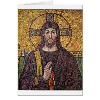 Mosaico de Jesús Tarjeta De Felicitación