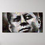 Mosaico de Kennedy Poster