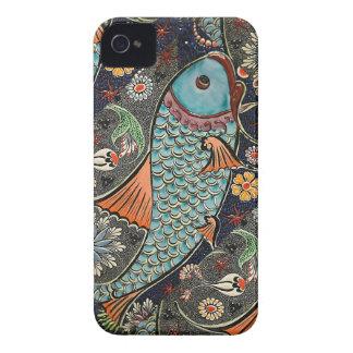 Mosaico de Koi iPhone 4 Cárcasas