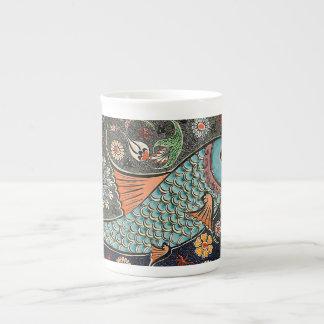 Mosaico de Koi Taza De Porcelana