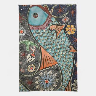 Mosaico de Koi Toallas