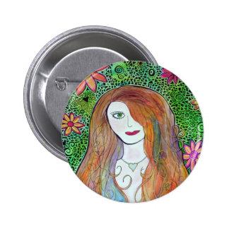 Mosaico de la acuarela del florista pin