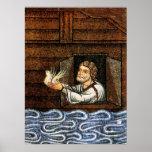 Mosaico de la arca de Noah - circa 1200 - desconoc Poster