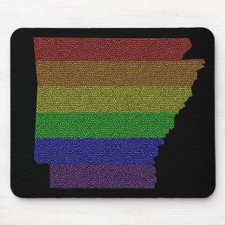 Mosaico de la bandera del orgullo del arco iris de alfombrilla de raton