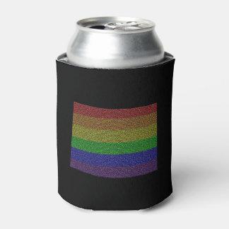 Mosaico de la bandera del orgullo del arco iris de enfriador de latas