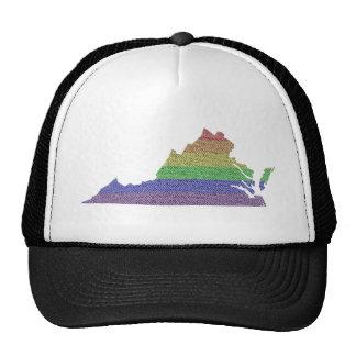 Mosaico de la bandera del orgullo del arco iris de gorras de camionero