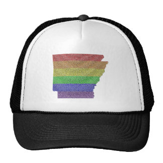 Mosaico de la bandera del orgullo del arco iris de gorro de camionero