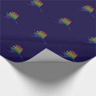 Mosaico de la bandera del orgullo del arco iris de papel de regalo
