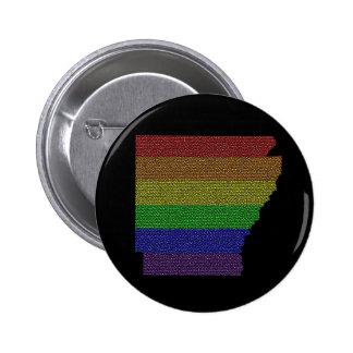 Mosaico de la bandera del orgullo del arco iris de pin redondo de 2 pulgadas