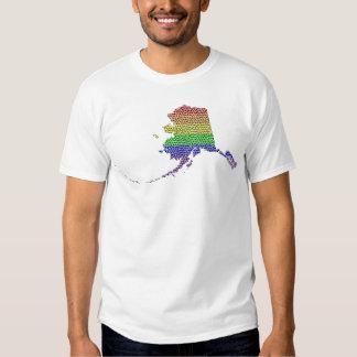 Mosaico de la bandera del orgullo del arco iris de playera