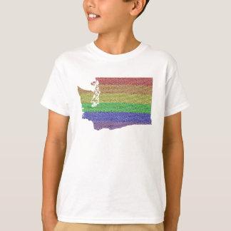 Mosaico de la bandera del orgullo del arco iris de playeras