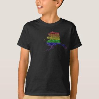 Mosaico de la bandera del orgullo del arco iris de polera