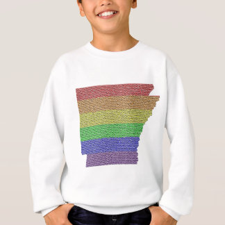 Mosaico de la bandera del orgullo del arco iris de poleras