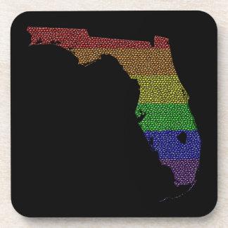 Mosaico de la bandera del orgullo del arco iris de posavasos de bebidas