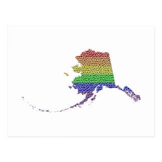 Mosaico de la bandera del orgullo del arco iris de postal