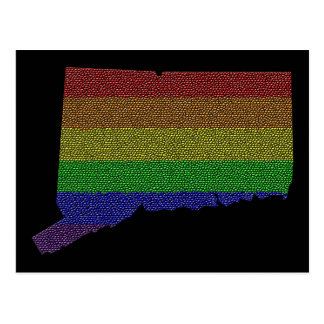 Mosaico de la bandera del orgullo del arco iris de postales