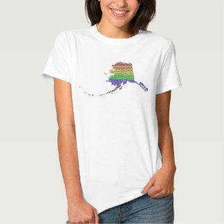 Mosaico de la bandera del orgullo del arco iris de remeras