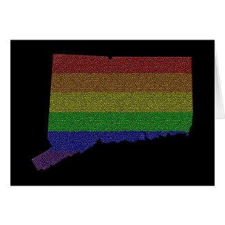 Mosaico de la bandera del orgullo del arco iris de tarjeta de felicitación